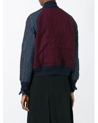 Sacai - Embroidered Bomber - Lyst
