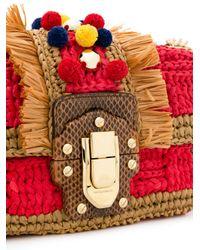 Dolce & Gabbana - Red Pom Pom Chain Shoulder Bag - Lyst