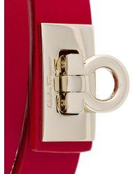 Ferragamo - Red Gancio Wrap Bracelet - Lyst
