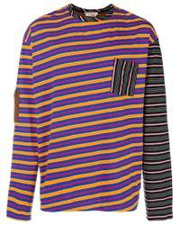 Marni - Blue Striped Long Sleeved T-shirt for Men - Lyst