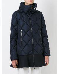 Moncler - Blue 'vouglans' Padded Coat - Lyst