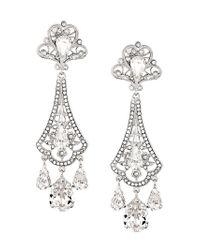Dolce & Gabbana - Metallic Chandelier Earrings - Lyst
