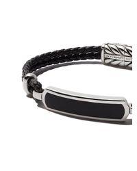 David Yurman - Black Exotic Stone Id Bracelet for Men - Lyst