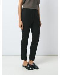Egrey - Black Skinny Trousers - Lyst