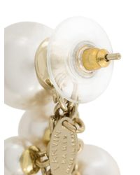 Lanvin - White Long Pearl Earrings - Lyst