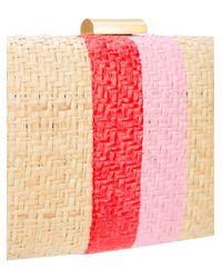 Kayu - Multicolor Tassel Detail Woven Clutch Bag - Lyst