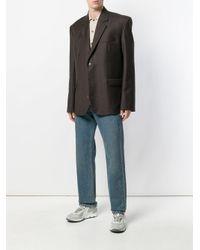 Martine Rose - Brown Oversized Blazer for Men - Lyst
