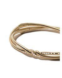 David Yurman - Metallic 18kt Yellow Gold Continuance Pavé Diamond Bangle - Lyst