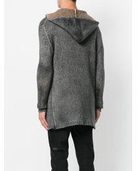 Avant Toi - Gray Hooded Cardigan for Men - Lyst