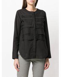 Lareida - Black Layered Bib Shirt - Lyst
