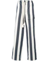 Loewe - White Striped Wide-leg Trousers for Men - Lyst