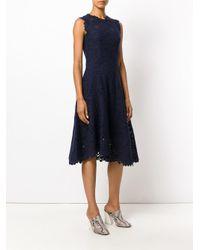 Ermanno Scervino - Blue High Neck Lace Dress - Lyst
