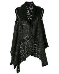 Cutuli Cult - Black Asymmetric Patchwork Gilet - Lyst