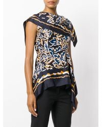 Peter Pilotto - Blue Floral Print Top - Lyst