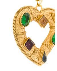 Dolce & Gabbana - Metallic Collana Con Pendente Di Cristallo - Lyst