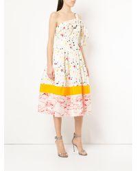 Carolina Herrera - White Splash Print Cocktail Dress - Lyst