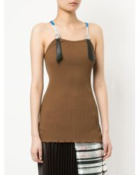 Toga Pulla - Brown Ribbed Top - Lyst