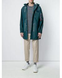 Stutterheim - Blue Multi-pocket Raincoat for Men - Lyst