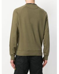 C P Company - Green Crew Neck Sweater for Men - Lyst