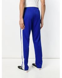 Palm Angels - Blue Track Chic Trousers for Men - Lyst