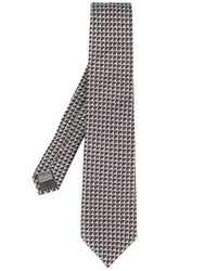 Canali - Gray Geometric Jacquard Tie for Men - Lyst