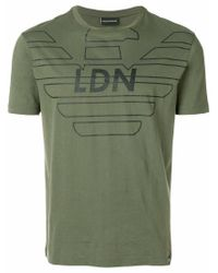 Emporio Armani - Green Ldn Printed T-shirt for Men - Lyst