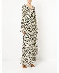 Dhela - Multicolor Printed Wrap Maxi Dress - Lyst