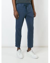 James Perse - Blue Drawstring Track Pants for Men - Lyst