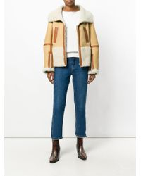 Courreges - Brown Oversized Zipped Aviator Jacket - Lyst