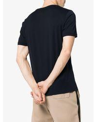 Fendi - Blue T-Shirt mit Logo-Print for Men - Lyst