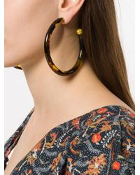 Cult Gaia - Brown Oversized Hoop Earrings - Lyst
