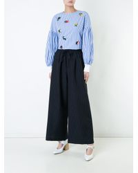 MUVEIL - Blue Sequin Embellished Blouse - Lyst