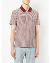 Cerruti 1881 - Red Striped Polo Shirt for Men - Lyst