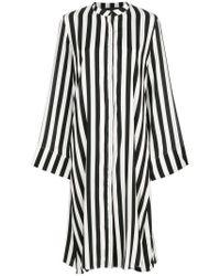 FEDERICA TOSI - Black Striped Shirt Dress - Lyst