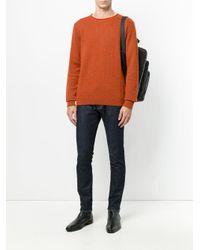 Giorgio Armani - Orange Patterned Jumper for Men - Lyst