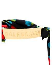 Balenciaga - Blue Large Gourmette Bracelet - Lyst