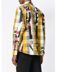 Burberry - Yellow Archive Scarf Print Shirt for Men - Lyst