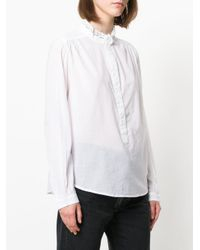Zadig & Voltaire - White Mandarin Collar Shirt - Lyst