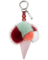 Fendi - Red Ice Cone Bag Charm - Lyst
