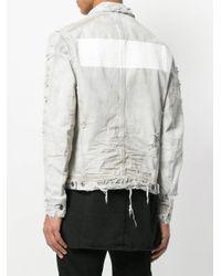 Julius - White Distressed Denim Jacket for Men - Lyst