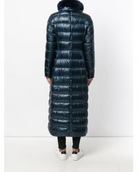 Herno - Blue Padded Long Parka - Lyst