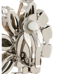 MSGM - Metallic Floral Drop Earrings - Lyst