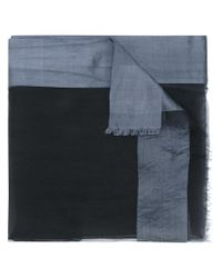 Faliero Sarti - Black Frayed Scarf for Men - Lyst