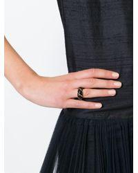 Aurelie Bidermann - Black 'diana' Twisted Ring - Lyst