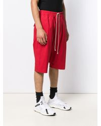 Rick Owens Red Rick's Pods Shorts for men