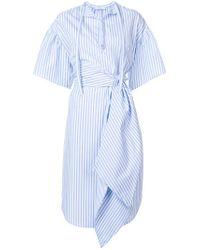 TOME - Blue Striped Asymmetrical Dress - Lyst