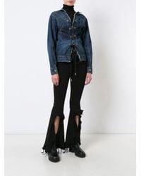Sacai - Blue Lace Up Denim Jacket - Lyst