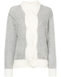 Astraet - Gray Contrast Checked Jumper - Lyst