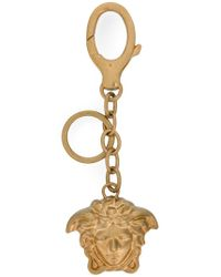 Versace - Metallic Medusa Key Ring - Lyst