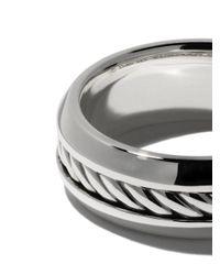 David Yurman - Metallic 'Cable' Ring aus Sterlingsilber for Men - Lyst